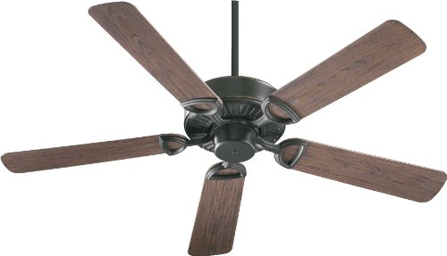 Quorum International 143525-95 Estate Patio Ceiling Fan with Walnut ABS Blades, 52-Inch, Old World Finish (Patio Quorum Estate)
