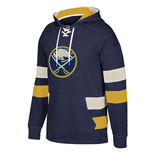 Buffalo Sabres Pullover (NHL Buffalo Sabres Ccm Pullover Jersey Hood, Navy, X-Large)