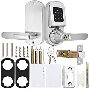 Fingerprint Touchscreen Password Key Card Bloqueo antirrobo con cerradura de 12 teclas Smart Door Lock