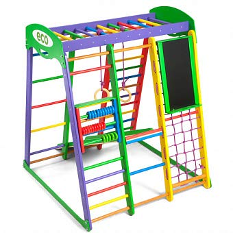 Jungle Gym - Monkey Bars - Play Area - Play structure - Indoor Playground - Backyard Playsets for Kids - Gym Kids - Playset for Toddlers - Swing Rope - Toddler Climber -Young Explorers - Akvarelka (Best Kids Indoor Playground)