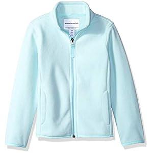 Amazon Essentials Girls' Polar Fleece Full-Zip Mock Jackets