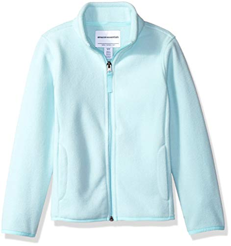 Amazon Essentials Girl's Full-Zip Polar Fleece Jacket, Aqua, XX-Large (Best Polar Fleece Jacket)