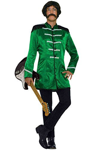 British Explosion Costumes (British Explosion Rock Band Adult Costume (Green))