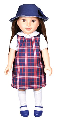 Kindred Hearts Dolls Paige Brown Hair Brown Eyes PVC Girl Doll, Brunette, 18