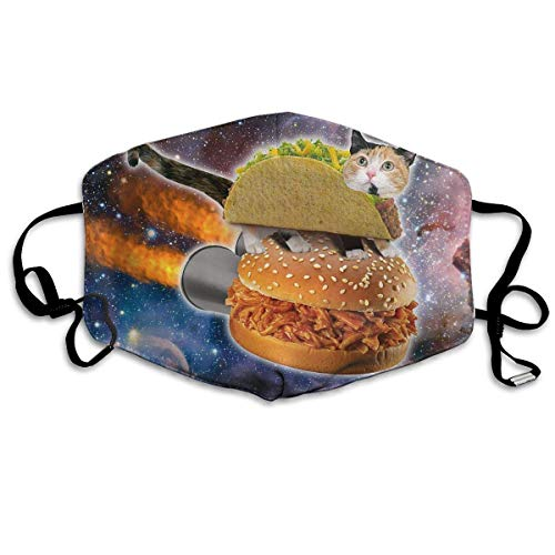 FFR-EHC Anti Dust Mask Taco Cat Reusable Washable Earloop Face Mouth Mask Safety Masks Eco-Friendly Breathable Print Unisex]()
