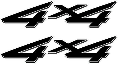 4x4 Off Road Decals (Black) - 2002 to 2008 Ford Style