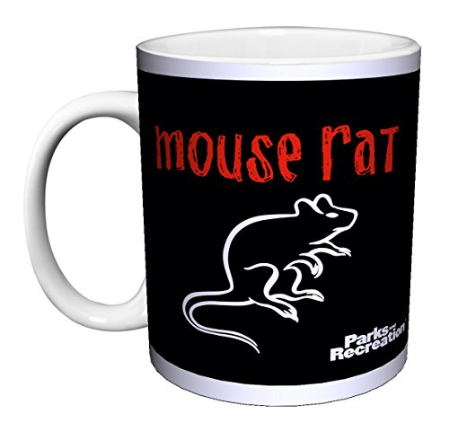 Parks and Recreation Andy Dwyer Mouse Rat Names Workplace Comedy TV Television Show Ceramic Gift Coffee (Tea, Cocoa) 11 Oz. (Park Rat)