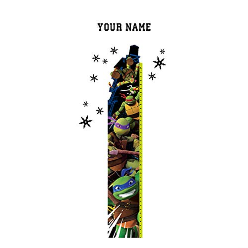 Teenage Mutant Ninja Turtles Personalized Growth Chart Wall Decal for Kids Room]()
