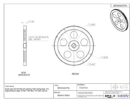 Boston Gear Gd116a Web With Lightening Holes Change Gear 14 5