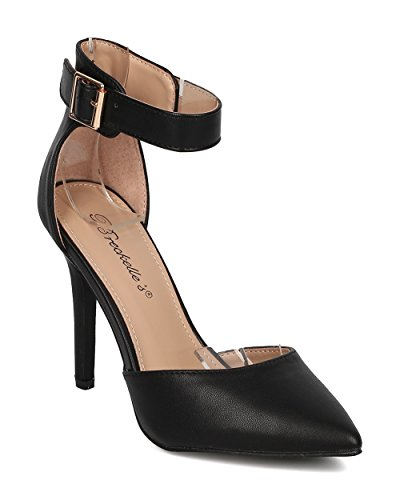 Breckelles+Women+Leatherette+Open+Toe+Ankle+Strap+Single+Band+Stiletto+Sandal+Black+8