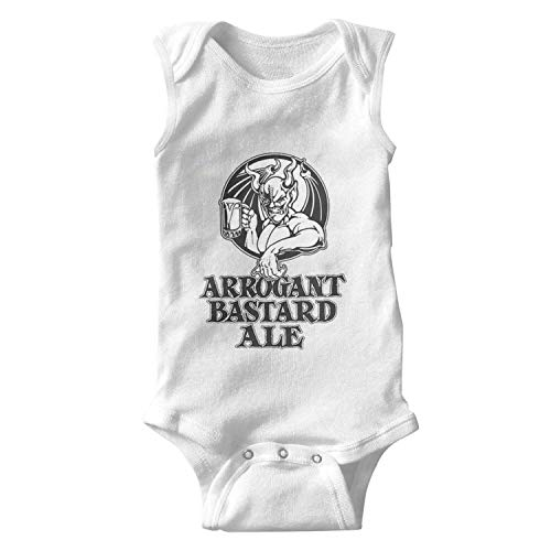 ORYSJDGTS Kids Sleeveless Arrogant-Bastard-Ale-from-Stone-Brewing-Co.-Beer- Designer Romper for Cute Infant