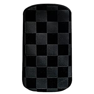 Puro Nabuk - Funda con modelo de cuadros para smartphones, negro
