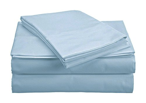 The Green Farmer Organic Cotton Sheet Set Bedding,300 Thread Count,GOTS Certified, 100% Organic Cotton, Eco-Friendly, Queen, Oceanic Blue