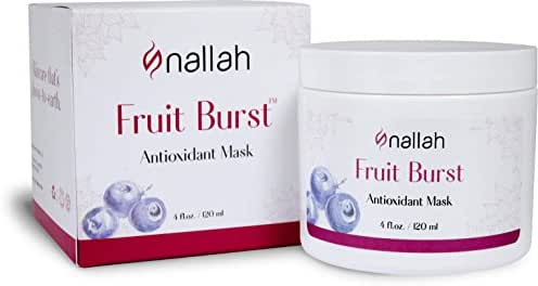 Nallah Antioxidant Mask, Anti Aging, Even Skin Tone, and More Radiant Complexion, Infused w/ Natural Plant and Fruit Extracts, 4 Ounce