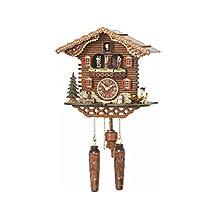 Quartz Cuckoo Clock Swiss house with music, turning dancers, incl. batteries TU 4209 QMT HZZG