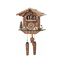 Trenkle Quartz Cuckoo Clock Swiss House with Music, Turning Dancers TU 4209 QMT HZZG