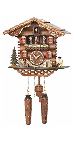 - Trenkle Quartz Cuckoo Clock Swiss House with Music, Turning Dancers TU 4209 QMT HZZG