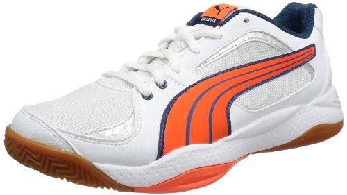 Puma Ballesta WnS, Chaussures de sports en salle femme Blanc (White, Fluo Peach, Poseidon Blue)