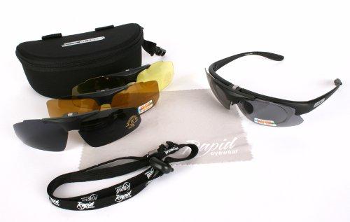 397b11e3c6 Rapid Eyewear Brille   Innovation Plus  UV400 Rx POLARISIERTE SPORT  SONNENBRILLE RAHMEN FÜR BRILLENTRÄGER mit Wechselgläsern. Für Damen und  Herren.