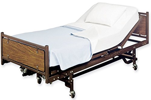 White Classic Flat Hospital Bed Sheet, Twin Size Flat Sheets, 1 Flat Sheet, Cotton/Poly, (1, Flat - Inch Top Desk Flat 66