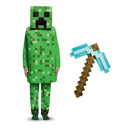 BirthdayExpress Minecraft Creeper with Pick Axe Deluxe Child