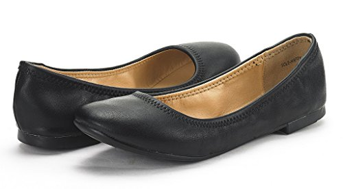 DREAM PAIRS Women's Sole Happy Black Ballerina Walking Flats Shoes - 11 M US by DREAM PAIRS (Image #1)