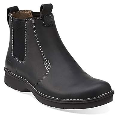 Clarks Men's Seeley Hi,Black Leather,US 11 M