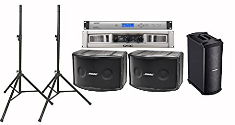Bose 802 IV Portable Loudspeaker Bundle with QSC GX5 Power Amplifier, Speaker Stands and Accessories - Portable PA System (12 (Panaray System Digital Controller)