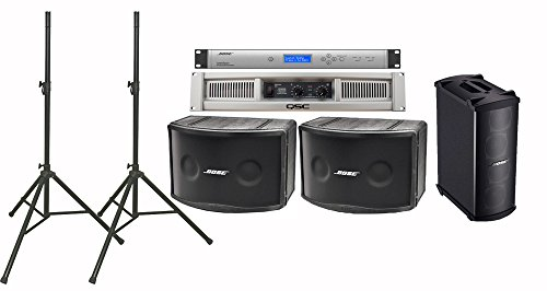 Bose 802 IV Portable Loudspeaker Bundle with QSC GX5 Power Amplifier, Speaker Stands and Accessories - Portable PA System (12 (Bose Amps)