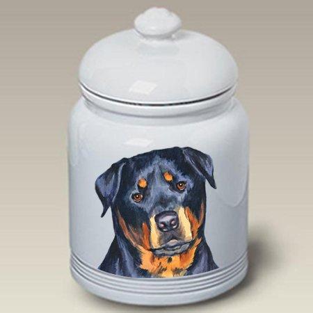 (Best of Breed Rottweiler - Barbara Van Vliet Ceramic Treat Jars )