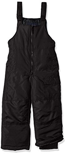 London Fog Toddler Boys' Classic Heavyweight Snow Bib Ski Pant, New Black, 2T