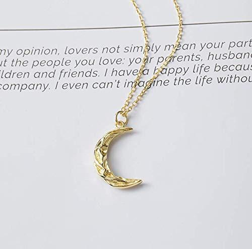 Helen de Lete Golden Moon S925 Sterling Silver Pendant Necklace