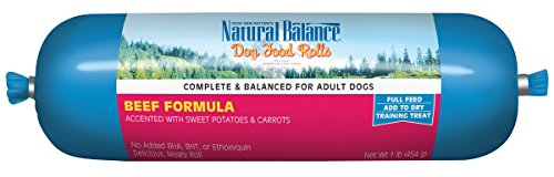 Dog Food Roll (Natural Balance Beef Formula Dog Food Roll,)