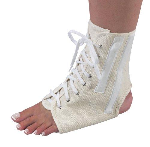 Bilt-Rite Mastex Health Canvas Ankle Brace with Laces, Beige, - Up Lace Ankle Brace Canvas
