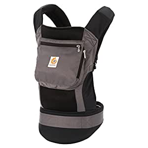 Ergobaby Original Cool Air Mesh Performance Ergonomic Multi-Position Baby Carrier with X-Large Storage Pocket, Charcoal Grey