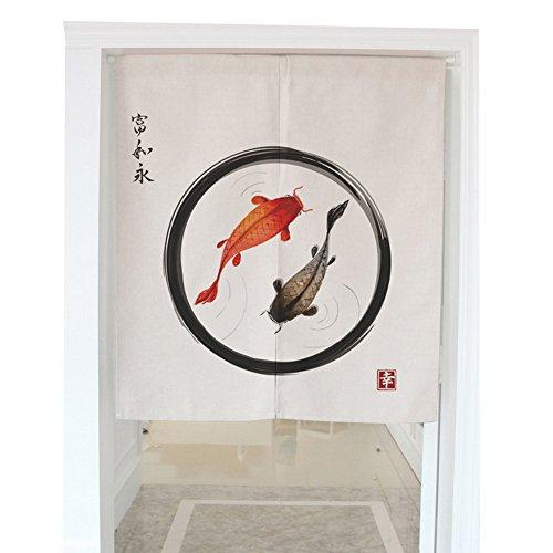 Crazy Cart Lucky Koi Door way Curtain Home Decoration For Kitchen/Bedroom/Bathroom/Corridor (31.5