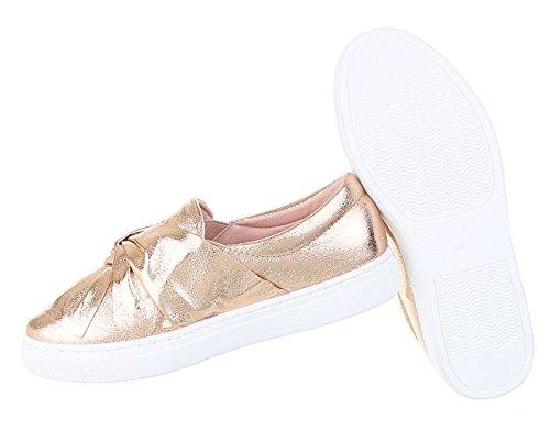 Damen Dandy Halbschuhe | Brogues Profilsohle | Leder-Optik Schuhe Slipper | Metallic Slipper | Plateauschuhe zweifarbig | Damenschuhe Keilabsatz | Nieten Strass Schuhe | Schuhcity24 Rosa