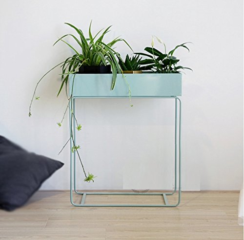 Modern simple floor flower pots shelf / indoor flower rack / shelves ( Color : Light green ) by Flower racks - xin