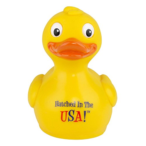 CelebriDucks Sam Hatched in the USA! Rubber Duck Bath Toy - Made in the (Baby Doll Made Usa)