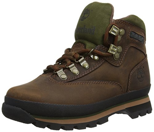 Timberland Women's Euro Hiker Leather Ankle Boot,Brown,7.5 M US
