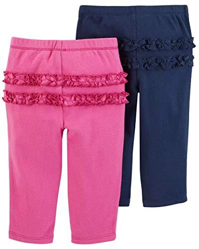 (Carter's Baby Girls' 2-Pack Pants (Navy Multi, Newborn))