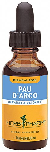 Herb Pharm Alcohol-Free Pau D'Arco Glycerite for Cleansing and Detoxification - 1 (Alcohol Free 1 Oz Herbs)