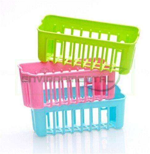 Pelton Wall Sucker Edge Plastic Organizer Net Box Ktichen Bathroom Tool Qty 1