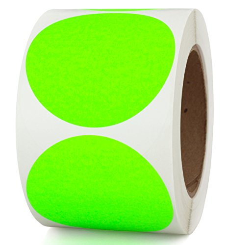 "3"" Fluorescent Green Color-Coding Stickers Dots 