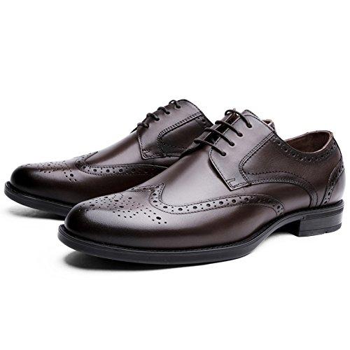Marrone Oxfords Eleganti Brogue Scarpe Uomo Pelle Scarpe Stringate Desai Comfort Vestito wxgv6pqIIF