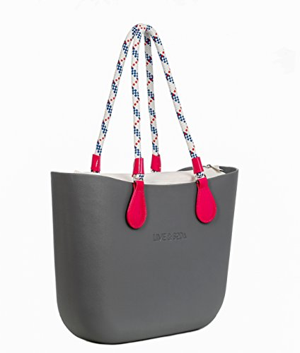 Lime & Soda Women's Fashion Eva Handbag - Rope Handles - Mix & Match to find your style (Grey Special)