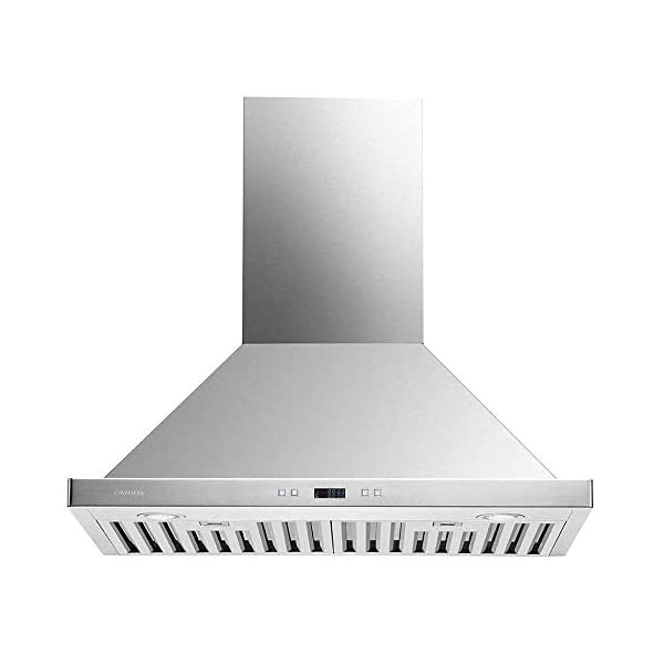 CAVALIERE 30″ Range Hood Wall Mounted Brushed Stainless Steel Kitchen Vent 900CFM