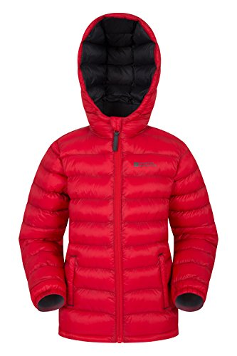Pockets Padded for Resistant Rain amp; Jacket Seasons Summer Warehouse Lightweight Front Red Kids Casual Elastic Boys Jacket Coat Water 2 Cuffs Mountain Jacket Travelling tUAfx