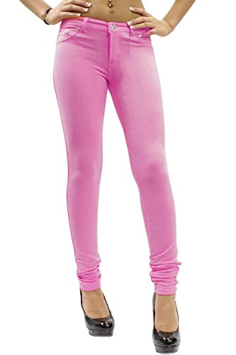 26 Baby Jeans Fitted 8 Pink Women Ladies Stretchy Jeggings wxqHnv1pf