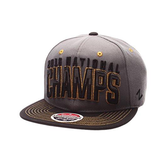 Zephyr NCAA Clemson Tigers Adult Men National Champions Snapback, Adjustable, Gray